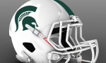 Michigan State white helmet oregon