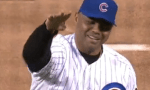 Charles Barkley cubs first pitch