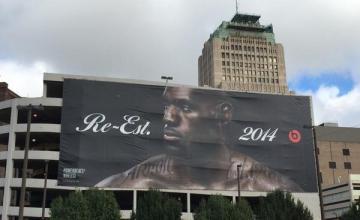 LeBron James beats by dre billboard