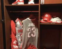 LEBron James locker