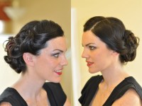 40s Pinup Bridal Hair Makeup with Diem Angie