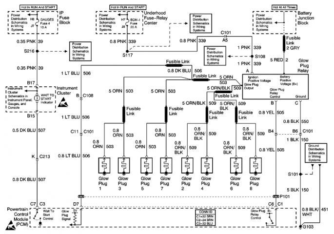 diagram for 6 5 diesel glow plug wiring