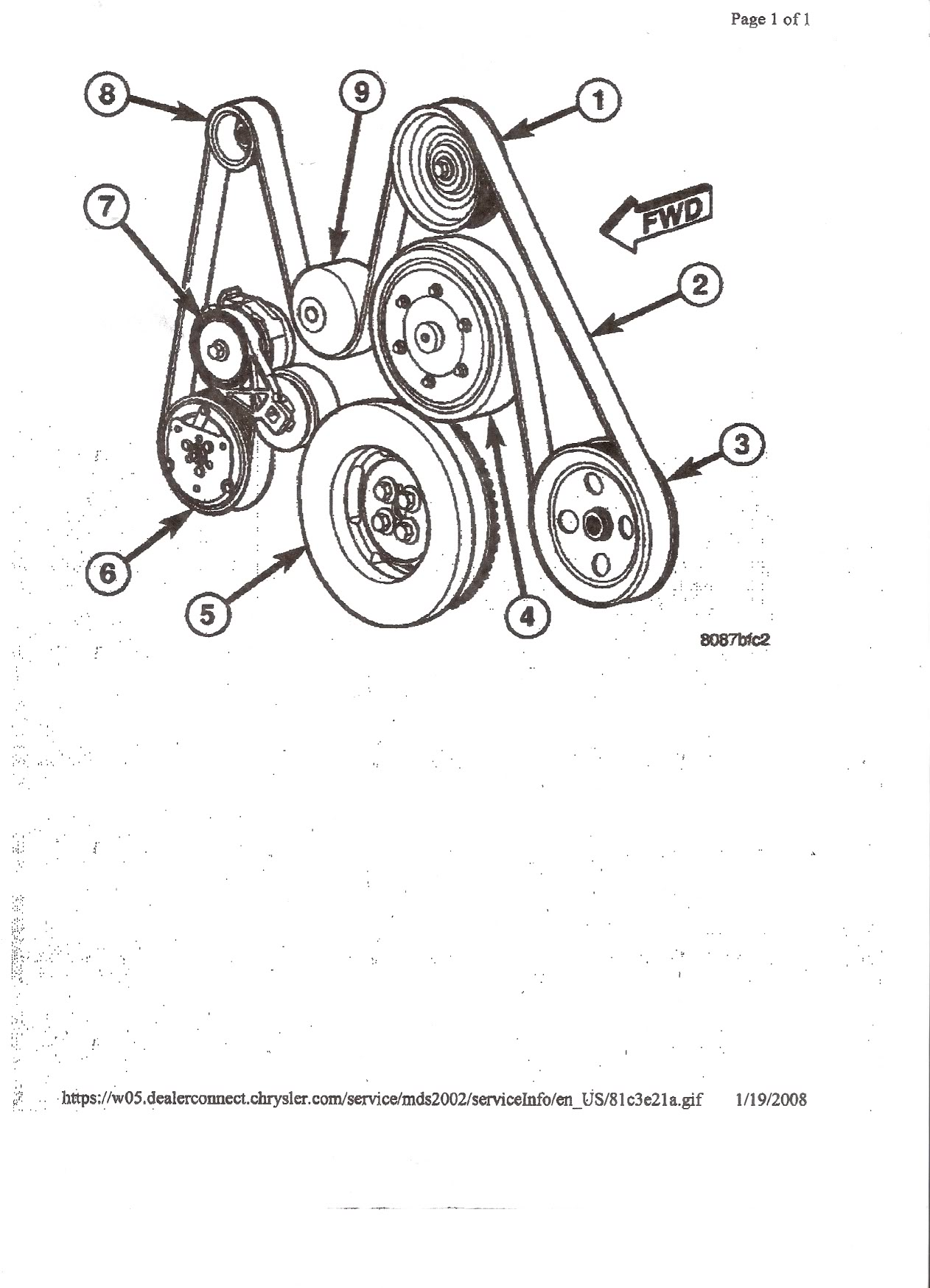 2004 dodge cummins belt diagram