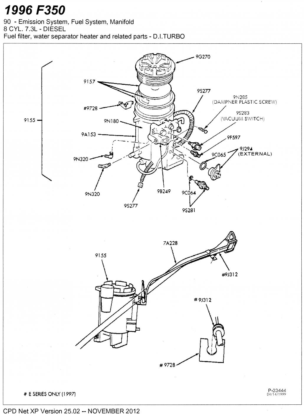 2006 ford f 250 diesel fuel filter location