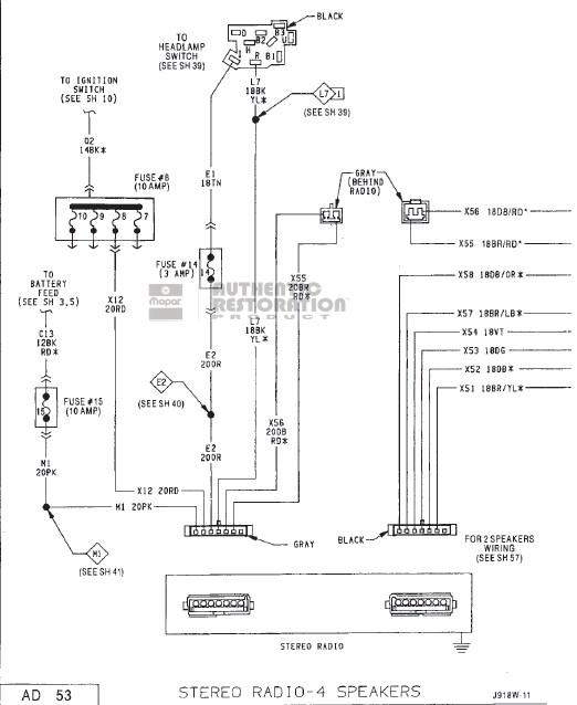1992 dodge ram 250 fuse box diagram