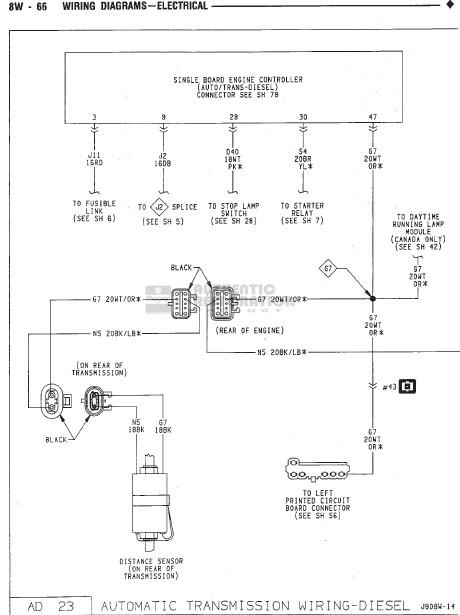 1990 dodge truck wiring diagram