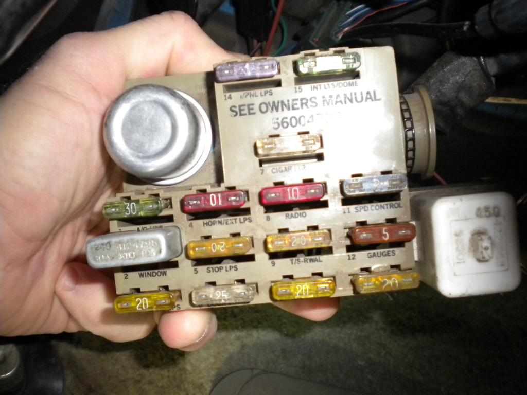 1988 dodge dakota fuse box