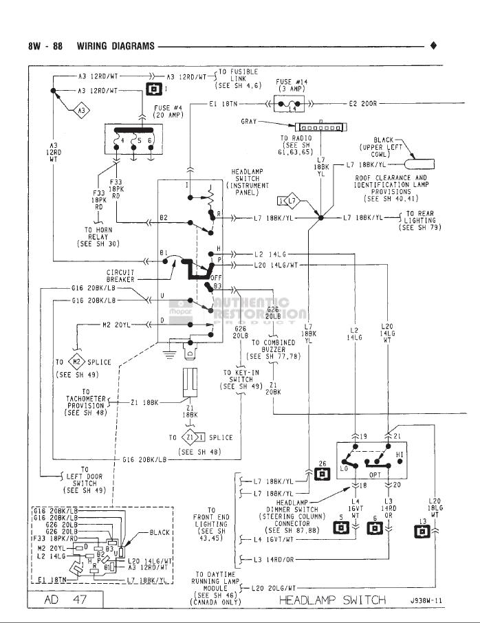 93 dodge spirit wiring diagram