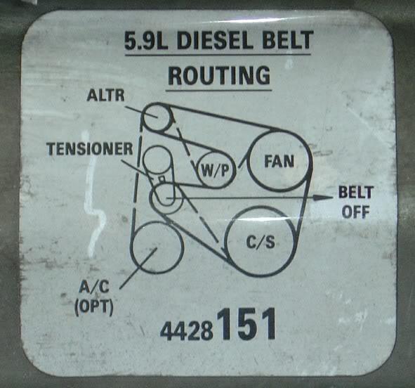 Non AC belt on AC equiped truck - Dodge Diesel - Diesel Truck