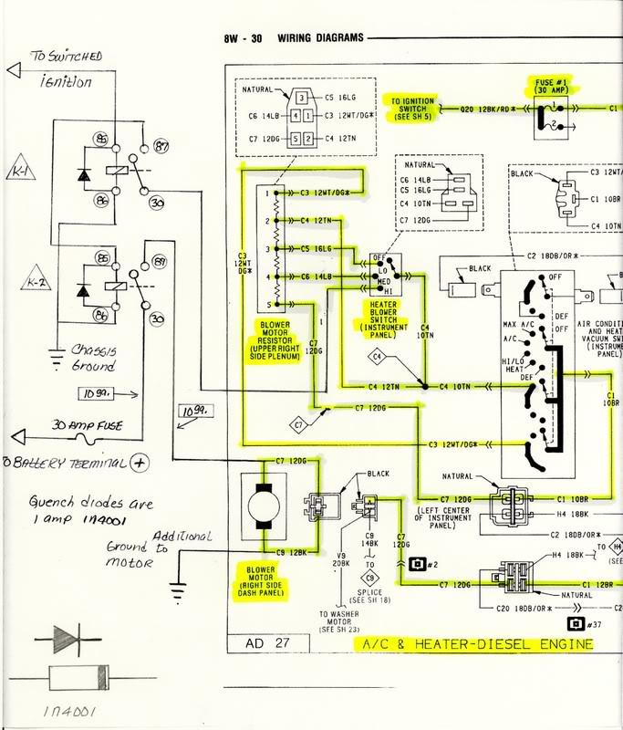 1991 dodge ram diesel wiring diagram