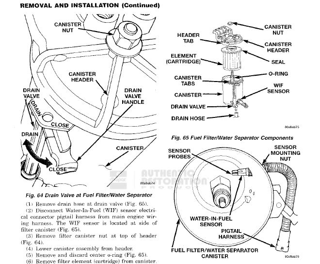 diesel fuel filter housing assy
