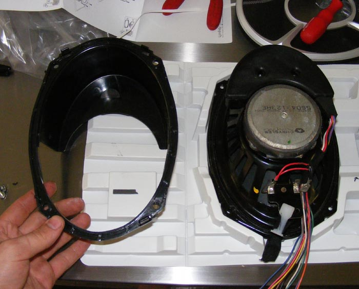 Replacement front door speakers with Infinity system - Dodge Diesel