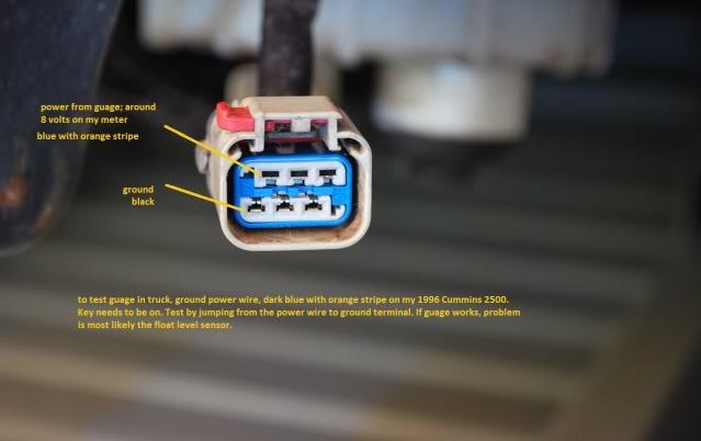 testing fuel guage, sending unit? - Dodge Diesel - Diesel Truck