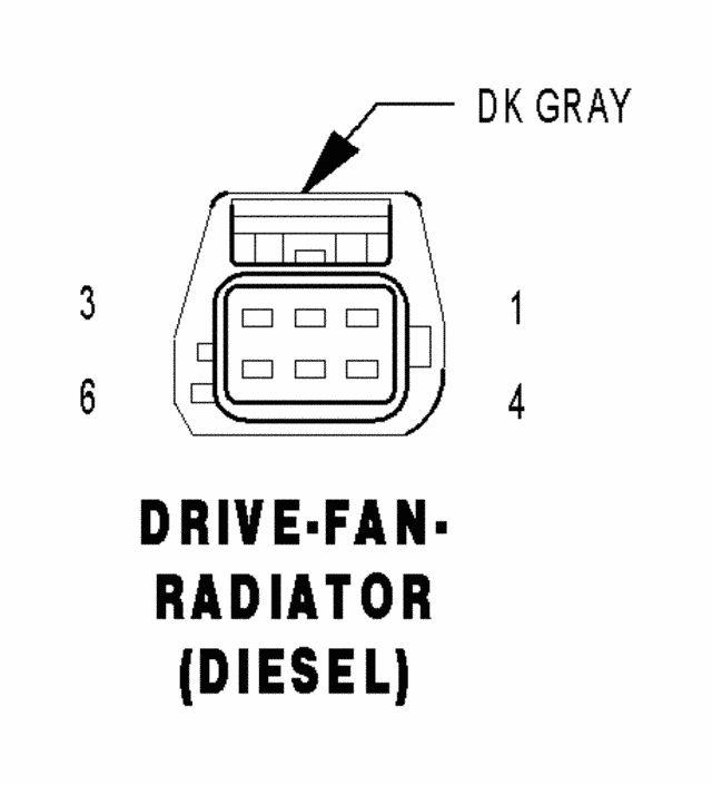 2003 dodge diesel fan clutch wiring