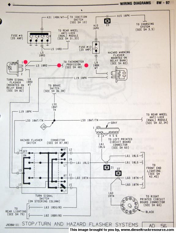 OEM Tach wiring diagram - Dodge Diesel - Diesel Truck Resource Forums