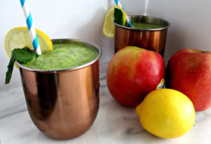 Green Ginger Mint Smoothie