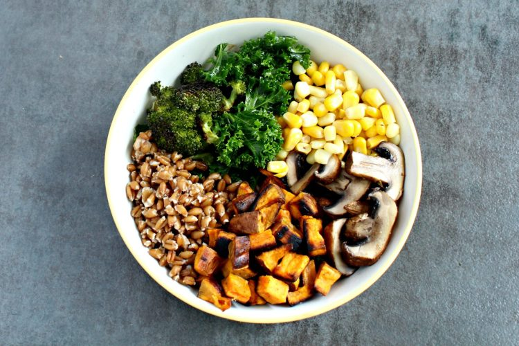 healthy vegetarian fall harvest bowl