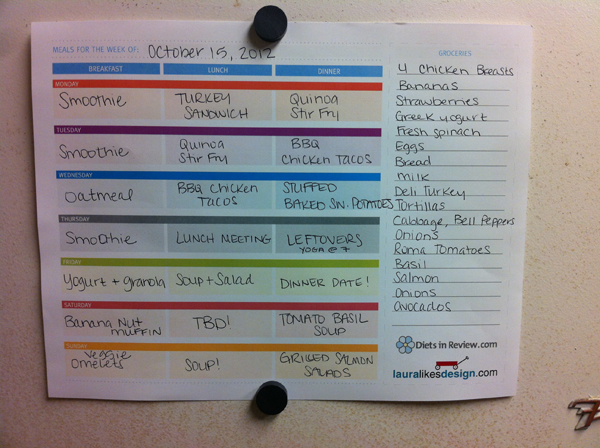 3 Free Weekly Meal Planner Worksheets to Organize Healthy Homemade Food - healthy meal plan