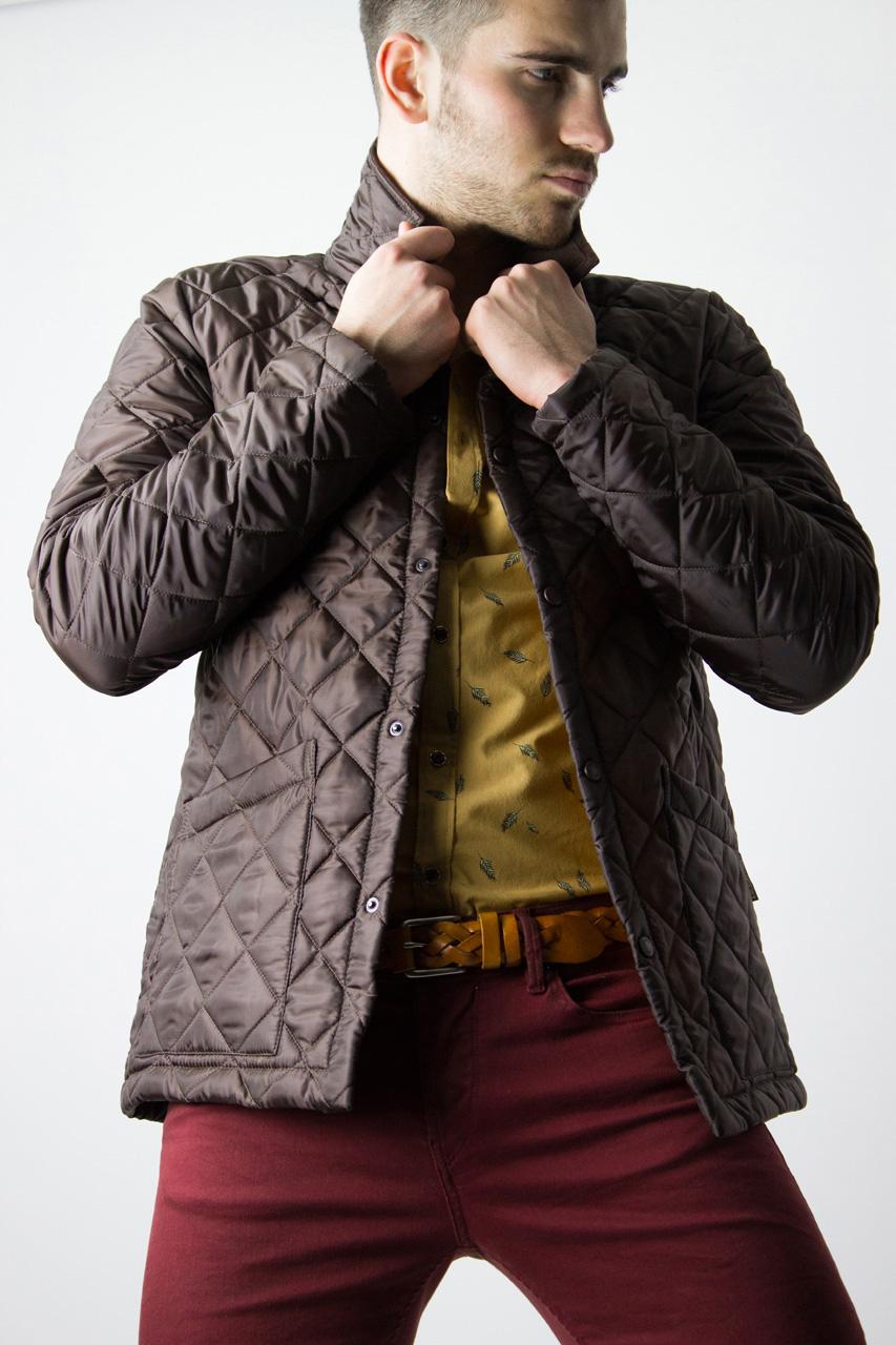 Lavenham quilted jacket brown
