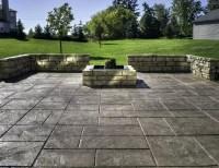 backyard stamped concrete patio ideas Luxury concrete ...