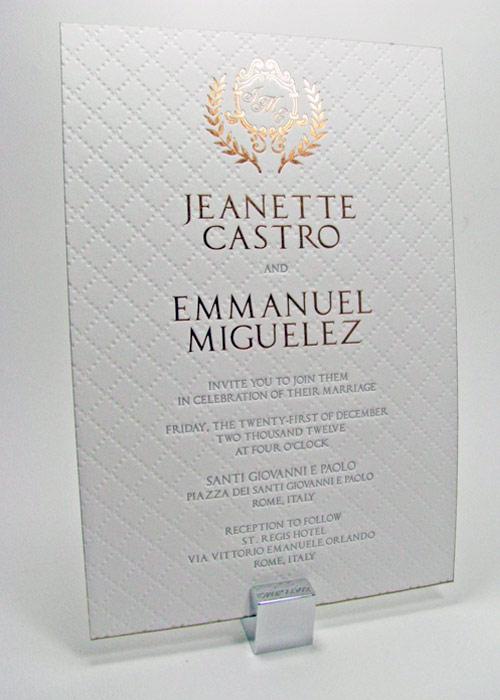wedding monogram invitations