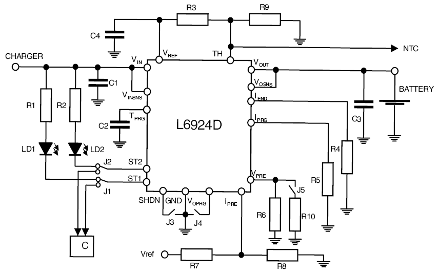 usb fast charger schematic