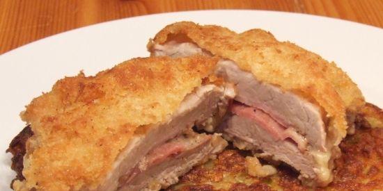 Foto: Cordon Bleu vom Schweinefilet mit Rösti