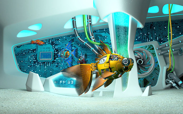Mac Moving Wallpaper Hd Cyberfish 3d Screensaver Download Animated 3d Screensaver