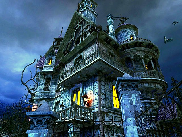 3d Fall Desktop Wallpaper Haunted House 3d Screensaver Download Animated 3d