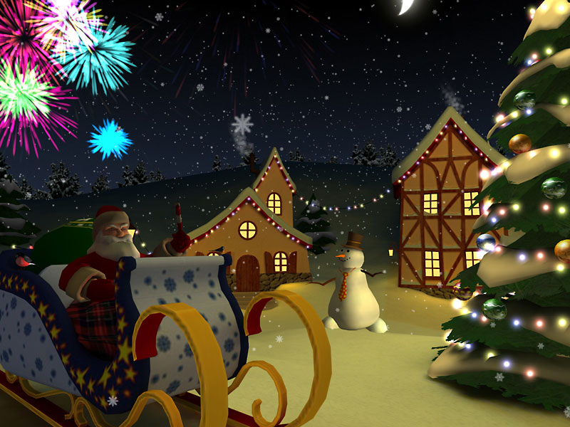 Free Animated Fall Wallpaper Christmas Holiday 3d Screensaver Download Animated 3d