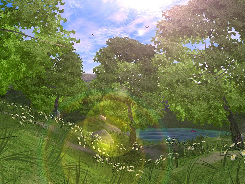 3d Fish Wallpaper Live Forest Lake 3d Gallery Image 2 Of 3