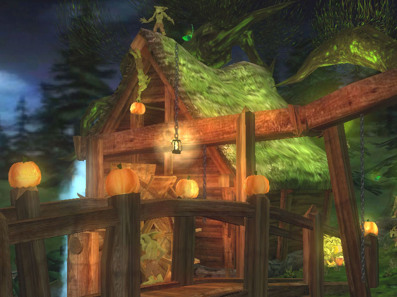 Windows Fall Wallpaper Goblins Halloween Festival 3d Screensaver Download