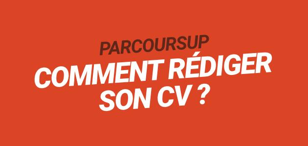 parcour sup comment faire son cv