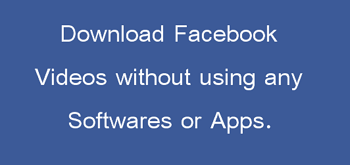 downlaod facebook videos without apps