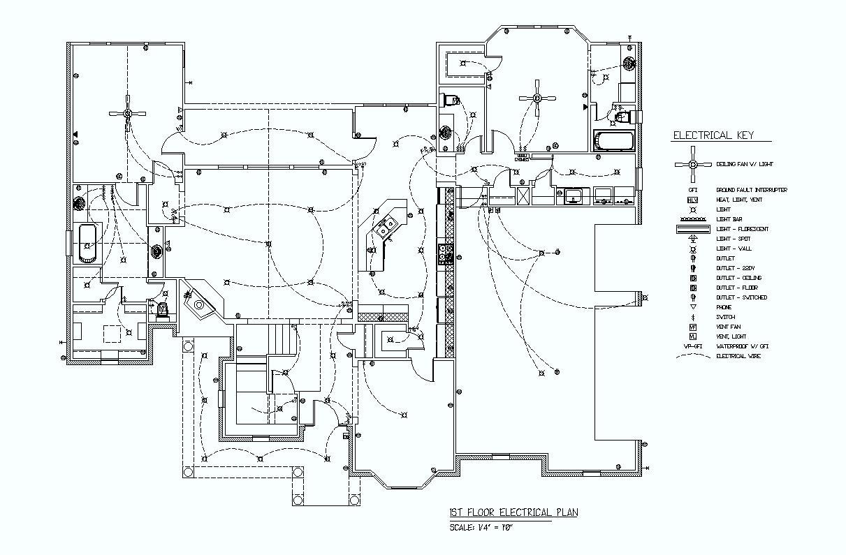 electrical plan key