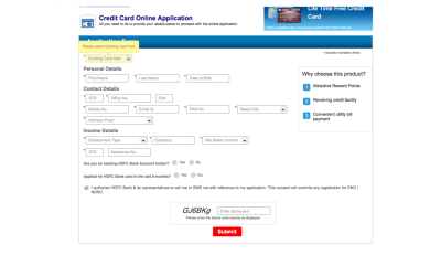 How to Track your HDFC Credit Card Application Status?