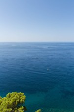 Here, the Mediterranean stretches off to the Italian horizon.