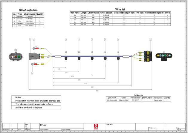 Wiring Harness Drawing Standards Wiring Schematic Diagram