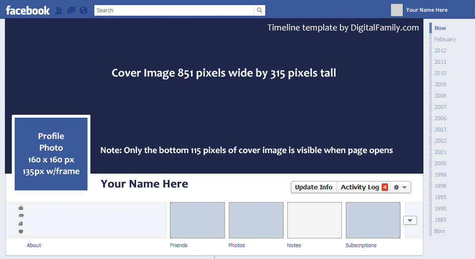 Facebook-Timeline-Template - - sample facebook timeline