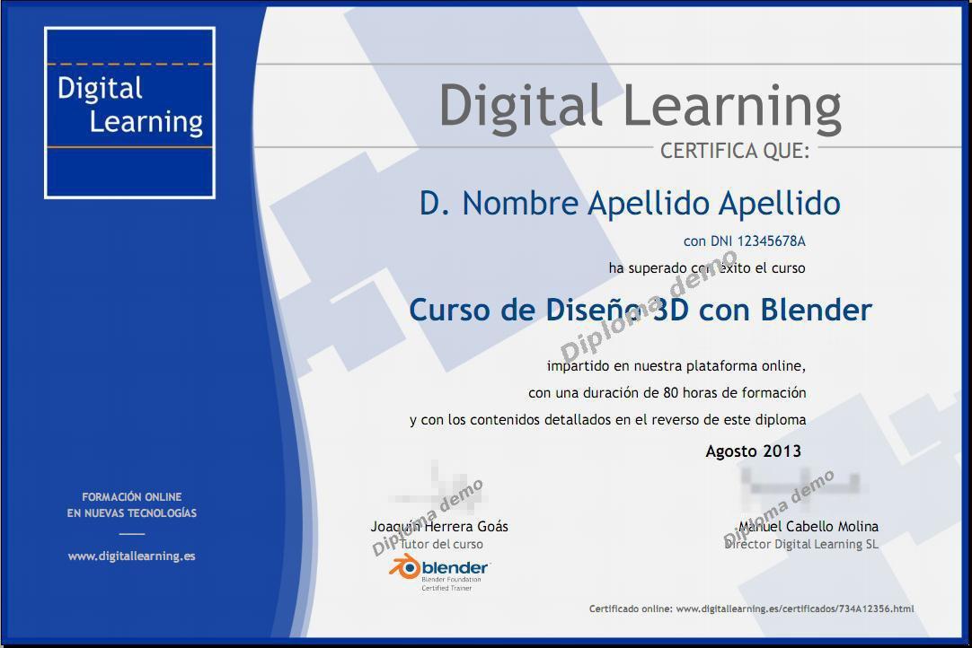 Diplomas y Certificados online Digital Learning