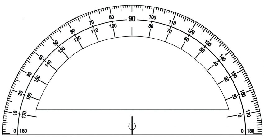 Free Printable Protractor 180° 360° Pdf with Ruler