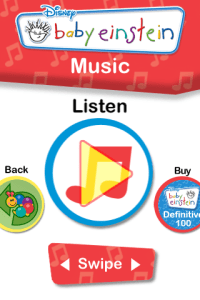 My Baby Einstein iPhone App - Music Feature