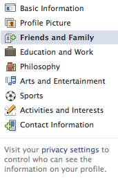 update your facebook profile