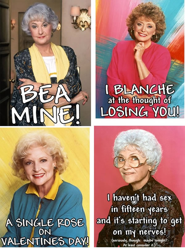 golden girls valentines day cards