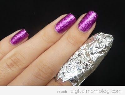 foil to remove finger nail polish