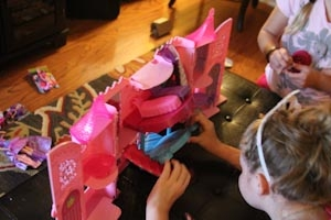 putting the barbie castle together
