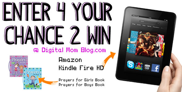 Amazon Kindle Fire HD Giveaway at Digital Mom Blog