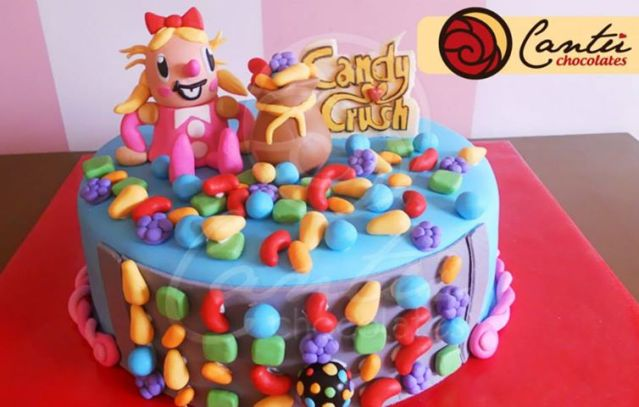 Candy Crush Birthday Cake