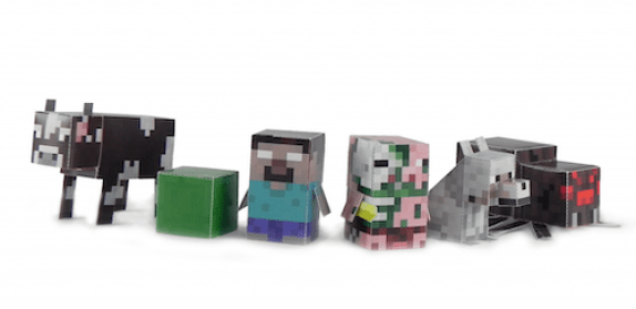 minecraft paper toys