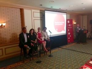 Silu Modi presenting at the Hearsay Innovation Summit at the Royal York in Toronto.